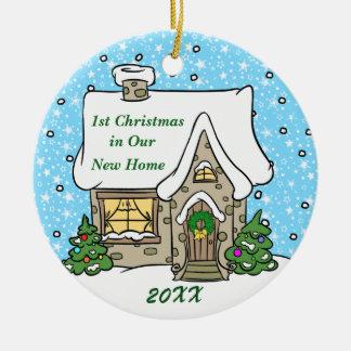 Ornement Rond En Céramique ęr Noël dans la nouvelle maison