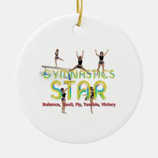 Ornement Rond En Céramique Étoile SUPÉRIEURE de gymnastique
