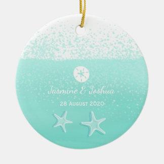 Ornement Rond En Céramique Étoiles de mer vertes en bon état du dollar de