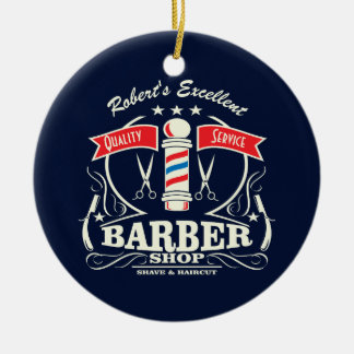 Ornement Rond En Céramique Excellent rasage de styliste de salon de coiffure