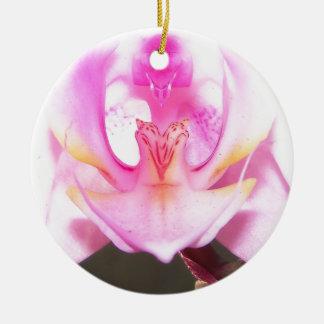 Ornement Rond En Céramique extrémité étroite de l'intérieur d'une fleur