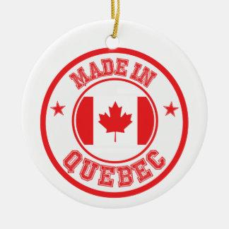 Ornement Rond En Céramique Fabriqué au Québec