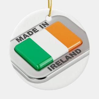 Ornement Rond En Céramique Fabriqué en Irlande