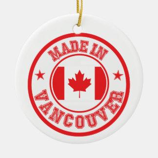 Ornement Rond En Céramique Fait à Vancouver