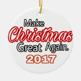 Ornement Rond En Céramique Faites Noël