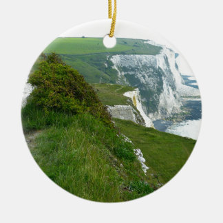 Ornement Rond En Céramique Falaises blanches de Douvres