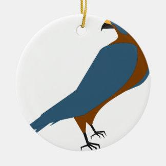 Ornement Rond En Céramique faucon