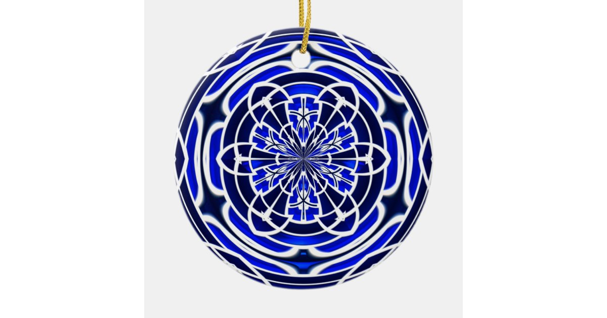 ornement rond en c ramique fen tre en verre teint de bleu. Black Bedroom Furniture Sets. Home Design Ideas