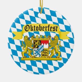 Ornement Rond En Céramique Festival allemand de civière d'Oktoberfest