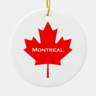 Ornement Rond En Céramique Feuille d'érable de Montréal
