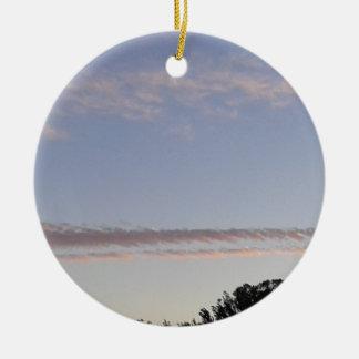 Ornement Rond En Céramique Filet de nuage