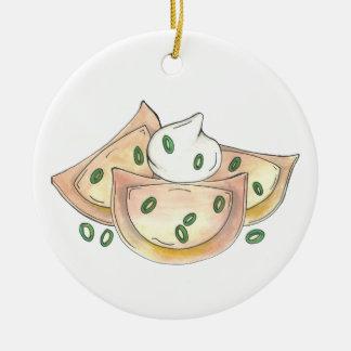 Ornement Rond En Céramique Fin gourmet polonais de boulettes de pomme de