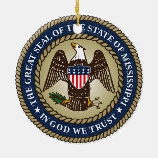 Ornement Rond En Céramique Fla de symbole de république de l'Amérique de