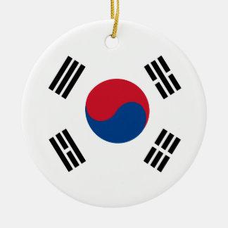 Ornement Rond En Céramique flag_korea