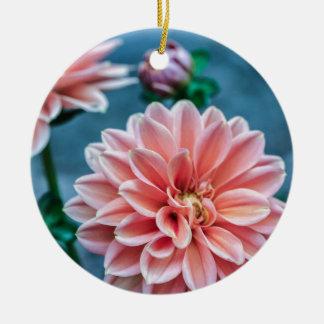 Ornement Rond En Céramique fleur