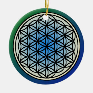 Ornement Rond En Céramique Fleur d'ornement de cercle de la vie