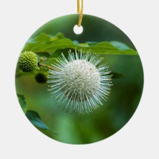 Ornement Rond En Céramique Fleur sauvage de Bush de bouton de l'Alabama