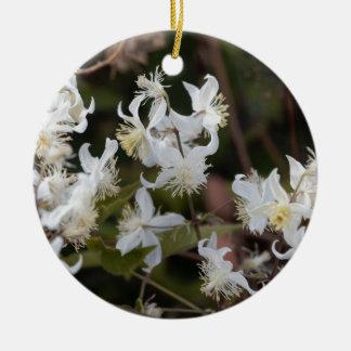 Ornement Rond En Céramique Fleurs de joie de voyageur (brachiata de