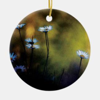 Ornement Rond En Céramique fleurs des champs design fashion