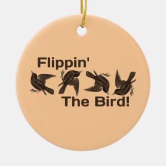 Ornement Rond En Céramique Flippin l'oiseau