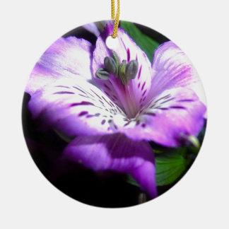 Ornement Rond En Céramique Flora pourpre