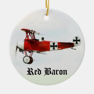 Ornement Rond En Céramique Fokker de la Première Guerre Mondiale du baron