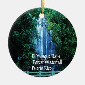 Ornement Rond En Céramique Forêt tropicale d'EL Yunique