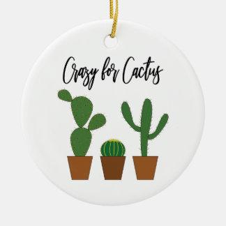 Ornement Rond En Céramique Fou pour l'ornement de cactus