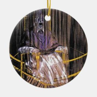 Ornement Rond En Céramique Francis Bacon - papes criards