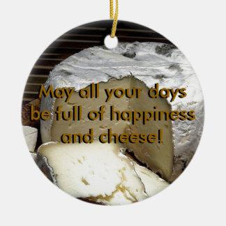 Ornement Rond En Céramique Fromage il ! Cadeau de fromage d'amusement pour