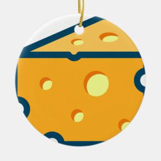 Ornement Rond En Céramique Fromage suisse