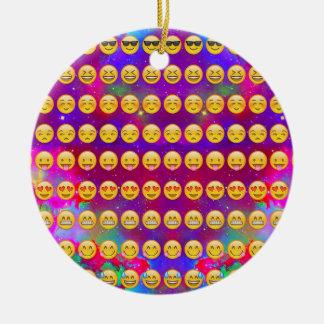 Ornement Rond En Céramique Galaxie Emojis