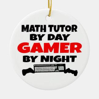 Ornement Rond En Céramique Gamer de tuteur de maths