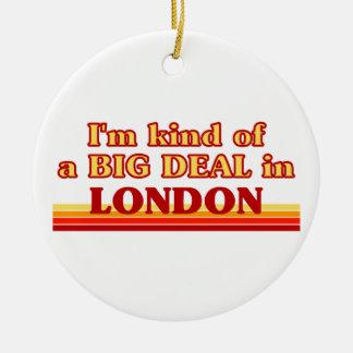 Ornement Rond En Céramique Genre d'I´m d'affaire à Londres