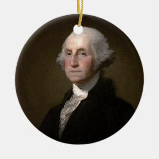 Ornement Rond En Céramique George Washington - portrait vintage d'art