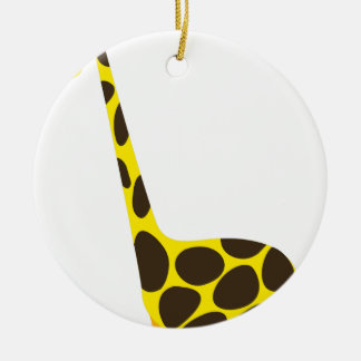 Ornement Rond En Céramique Girafe grande