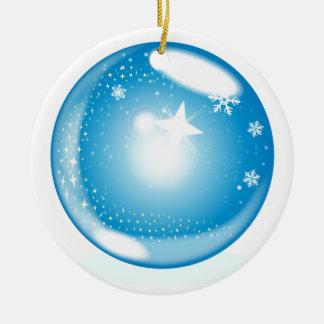 Ornement Rond En Céramique Globe d'étoile de Noël