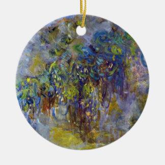 Ornement Rond En Céramique Glycines par Claude Monet, impressionisme vintage