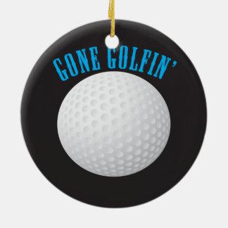 Ornement Rond En Céramique Golfeur allé jouer au golf le golf