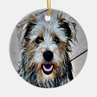 Ornement Rond En Céramique Gorge d'art de bruit d'Imaal Terrier