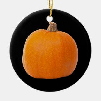 Ornement Rond En Céramique Grand citrouille orange de récolte d'automne