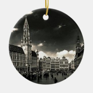 Ornement Rond En Céramique Grand-Endroit, Bruxelles, Belgique