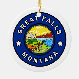 Ornement Rond En Céramique Great Falls Montana