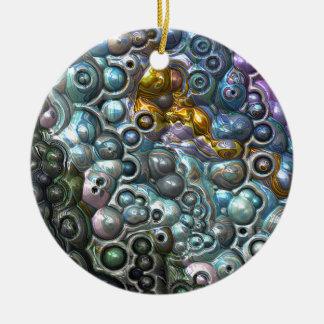 Ornement Rond En Céramique Groupes 3D colorés