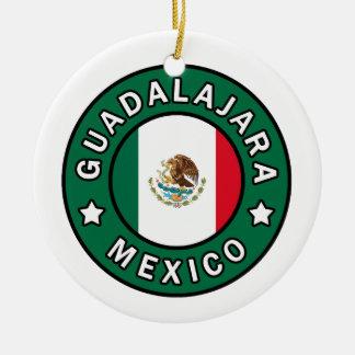 Ornement Rond En Céramique Guadalajara Mexique