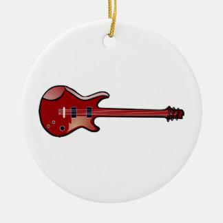 Ornement Rond En Céramique Guitare basse