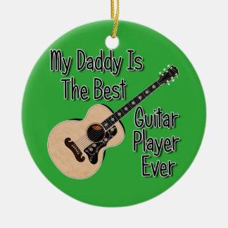 Ornement Rond En Céramique Guitare de papa