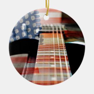 Ornement Rond En Céramique Guitare électrique de guitare de bannière des