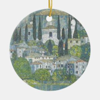 Ornement Rond En Céramique Gustav Klimt - église dans l'oeuvre d'art de