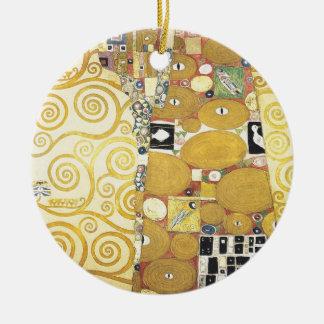 Ornement Rond En Céramique Gustav Klimt - l'étreinte - illustration classique